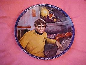 Star Trek, Chekov collector plate, by Susie Morton