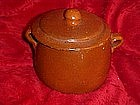 Vintage Mexican  red clay pot with lid