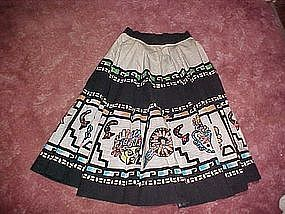 Vintage 40's hand painted /sequins Mexican circle skirt