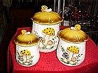 Sears Merry Mushroom Cannisters set of 3