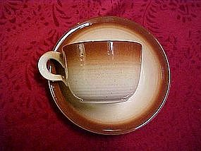 Franciscan, Sierra brown cup & saucer