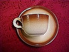 Franciscan, Sierra brown cup & saucer