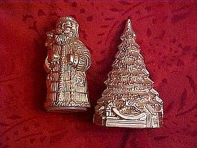 Santa and Christmas tree salt & pepper shakers