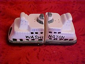 "The ""Washington""ship, salt and pepper shakers"