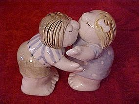 Kissing couple, salt and pepper shakers