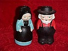 Old Amish couple salt and pepper shaker set