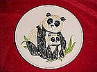 Goebel Panda plate, from Mothers series 1976