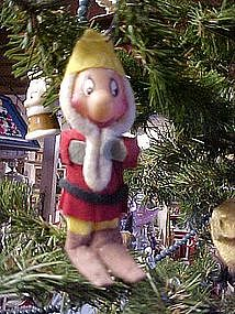 Chennile & felt Christmas elf ornament