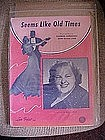 Seems like old times, music,  Kate Smith cover photo