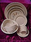 Homer Laughlin stoneware, Wheat pattern, tan specks