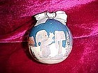 Enesco Precious moments decopage Christmas ornament, 1991