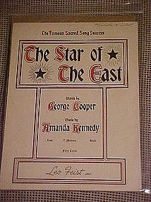 The Star of the East, sheet music 1918