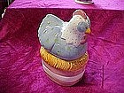 Hen and nest , salt and pepper shakers