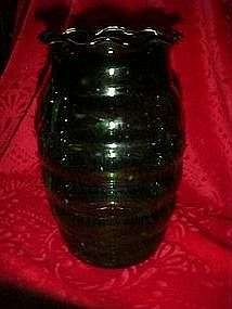 Whirly Twirly Anchor Hocking forest green vase