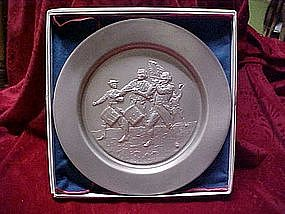 Pewter collector plate, The spirit of 76'  by Hamilton