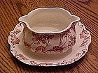 Alfred Meakin  pink Florette gravy with underplate