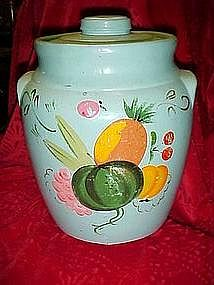 Ransburg hand made pottery cookie jar