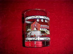 Tiara,  four farm  land scene glasses in original box