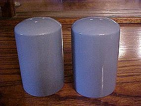 Large delphite blue range shakers, ceramic.