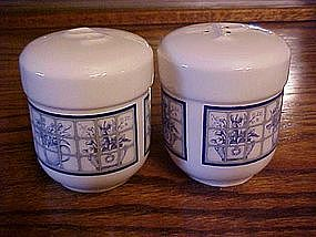 Large blue & white window scene shakers