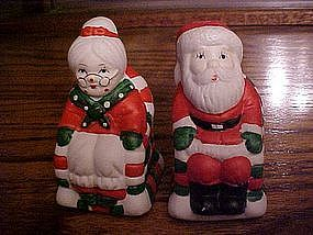 Mr.and Mrs Santa salt & pepper shakers