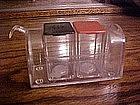 Acrylic mailbox salt & pepper shaker set