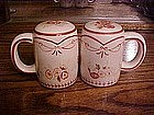 Waverly Vintage Rose, salt & pepper shaker set