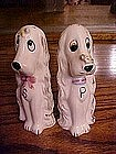 Vintage hound shakers with fly or bee