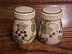 HAnd painted grapes salt & pepper set