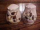 Hand painted fruit salt & pepper shakers