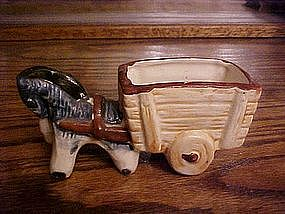 Hand painted horse and cart toothpick holder