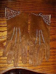 Vintage ladies soft leather gloves