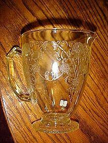 Florentine, Poppy, yellow pitcher by Hazel Atlas, RARE