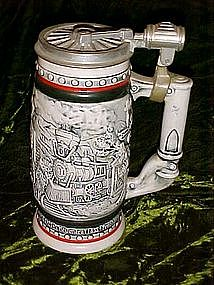 Avon train, locomotive, transportation stein 1982