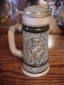 Avon english setter, rainbow trout Sports stein, 1978