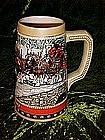 1988 Budweiser Christmas beer stein