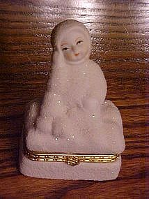 Snow baby trinket box