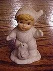 Homco Snow baby child #5501