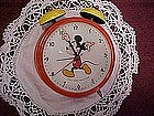 Old Giant metal Mickey Mouse alarm clock, West Germany