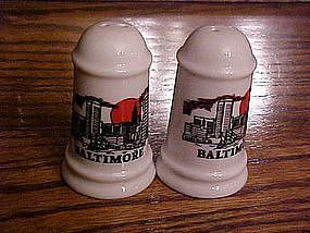 Souvenir  salt and pepper shakers from Baltimore