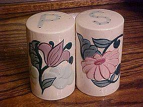 Large floral range  salt and pepper shakers