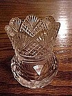 Elegant press/cut glass toothpick holder