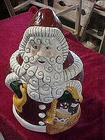 Christmas 1996 Santa cookie jar