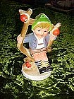 Hong Kong plastic Hummel boy in apple tree ornament