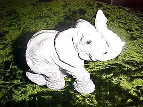 Realistic looking elephant figure with glass eyes