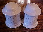 Calico salt and pepper shakers, nice size
