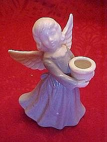 Lladro look ,angel candle holder