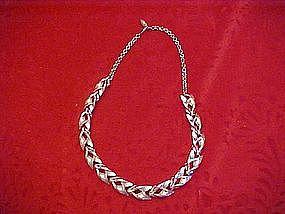 Costume silver tone chocker necklace