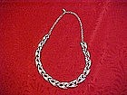 Costume silver tone chocker necklace