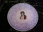 Victorian lady plate, lavender
